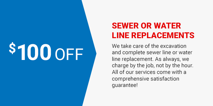 Sewer or Water Line Replacements coupon